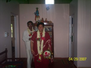 Us at our 3rd wedding ceremony in Kerala April 2007